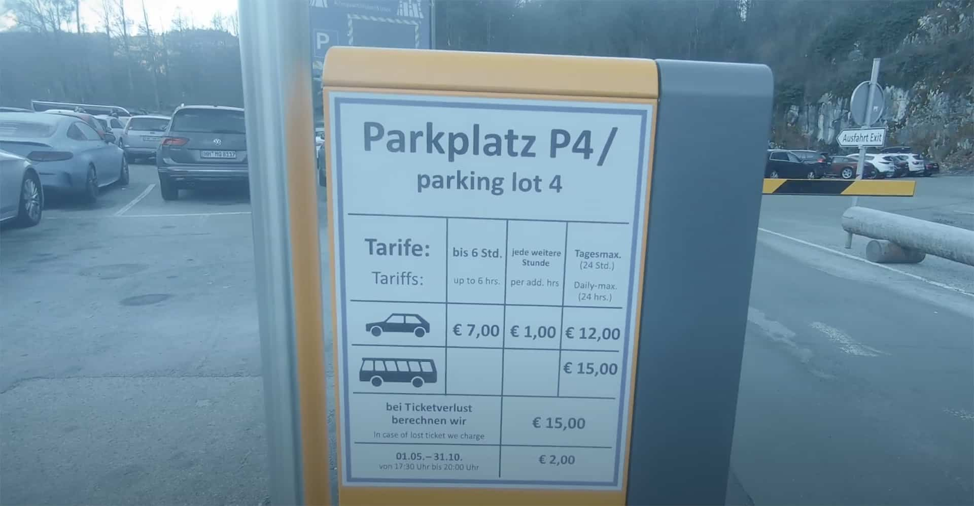 parkplatztarife hohenschwangau