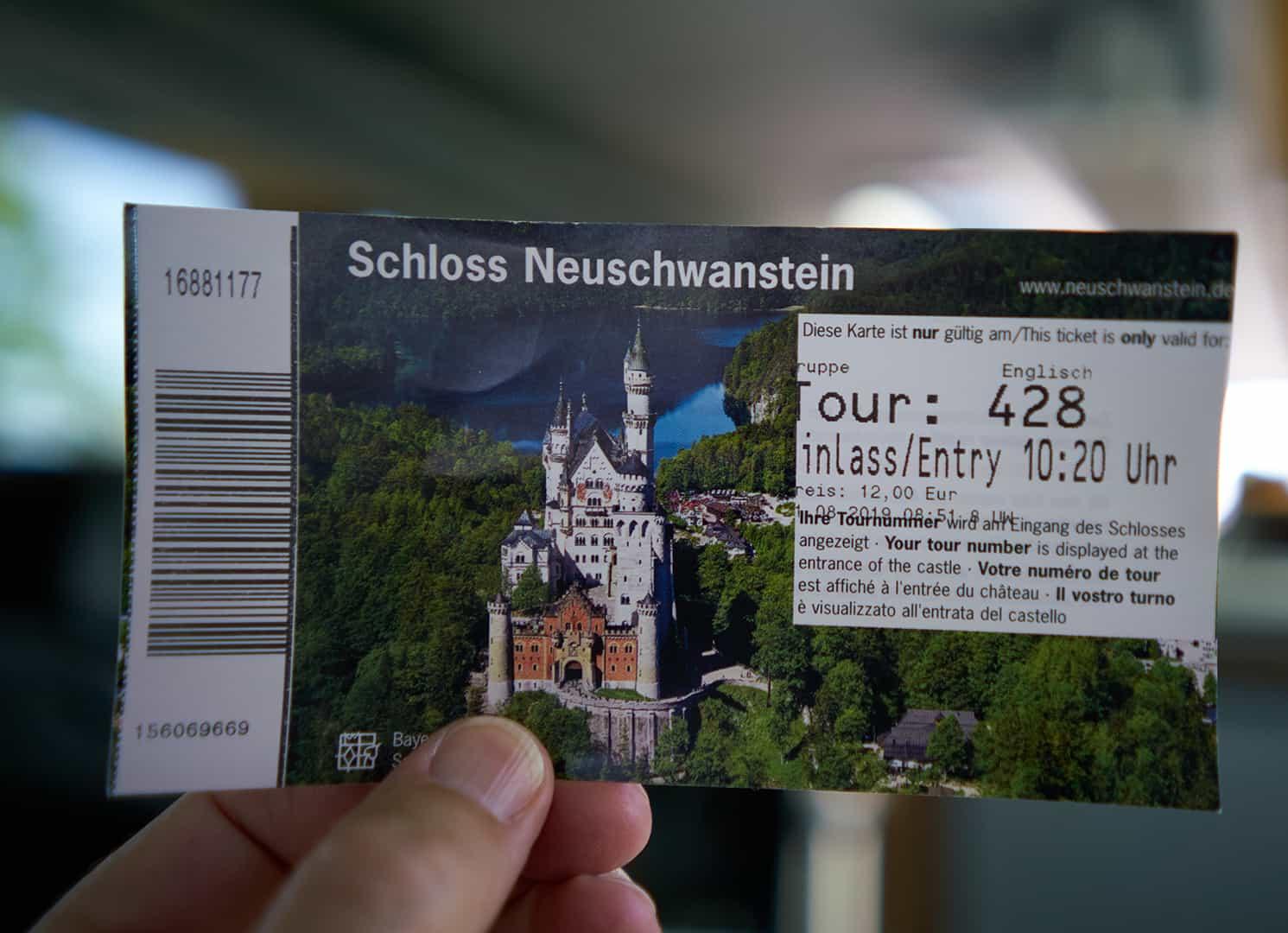 ticket neuschwanstein