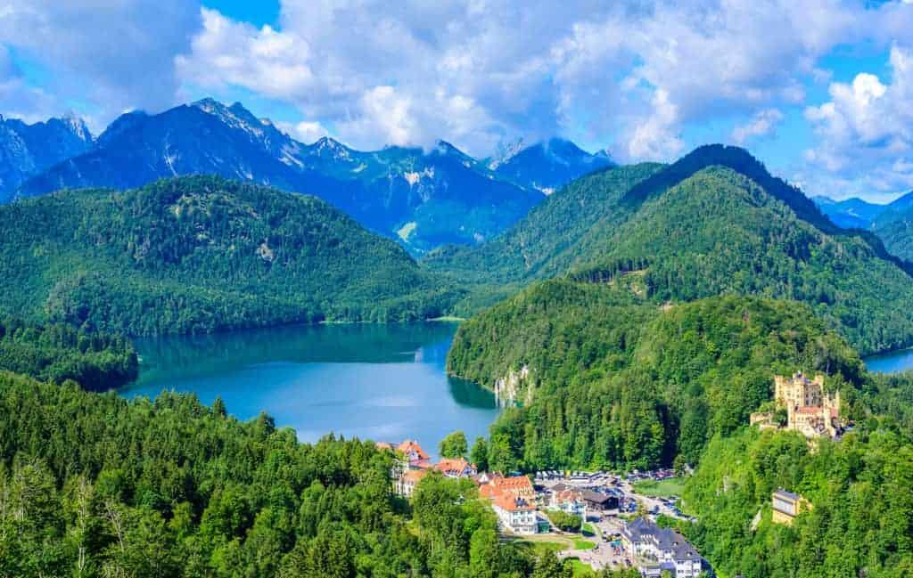 vue sur le lac de schwangau